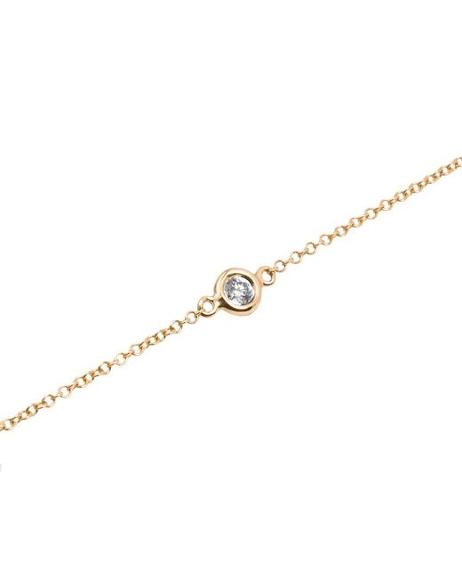 Anne Sisteron - Metallic 14kt Yellow Gold Diamond Solitaire Bracelet - Lyst