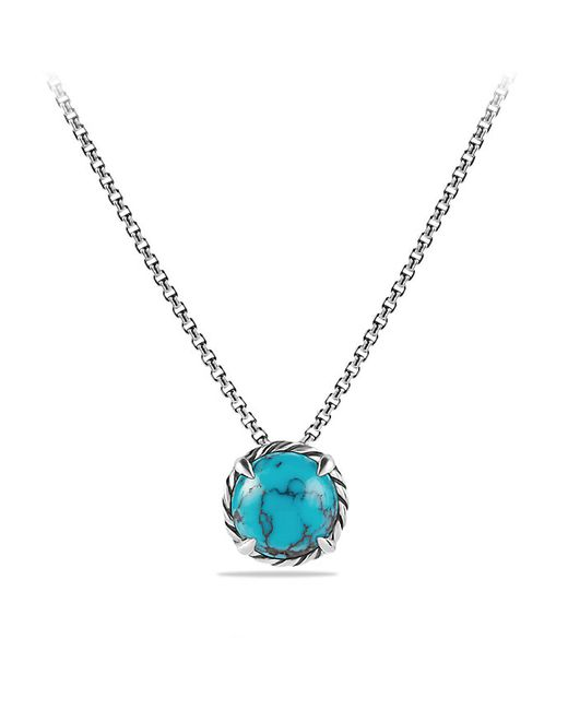 David Yurman   Blue Chatelaine Pendant Necklace With Turquoise   Lyst