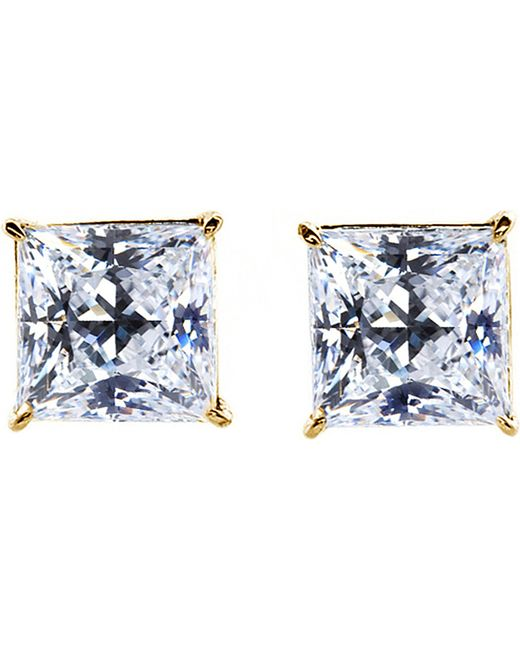 Carat* | Yellow Princess 0.5ct Solitaire Stud Earrings | Lyst
