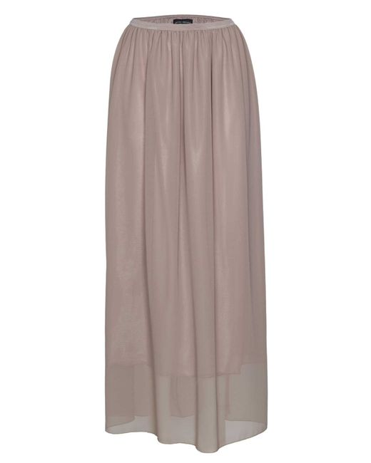 James Lakeland | Natural Long Georgette Skirt | Lyst