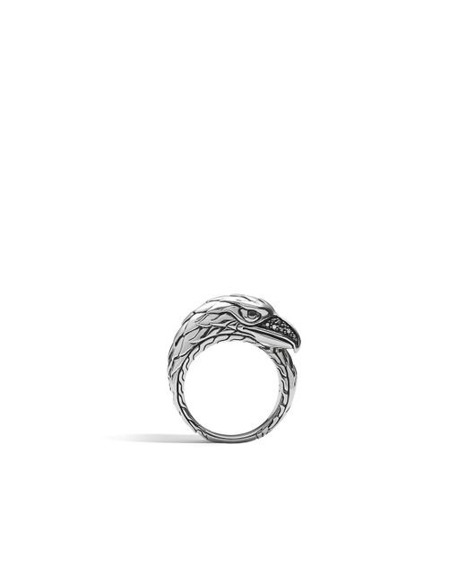 John Hardy | Metallic Eagle Ring With Black Sapphire for Men | Lyst