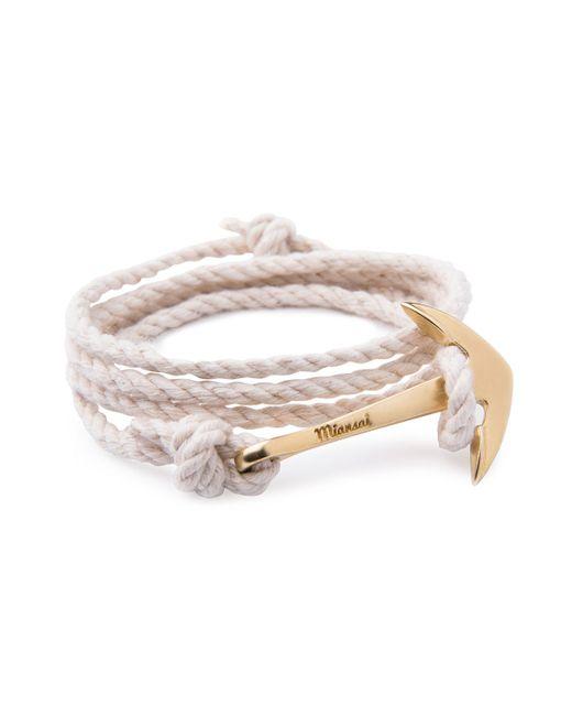 Miansai | Natural Anchor Rope Bracelet | Lyst