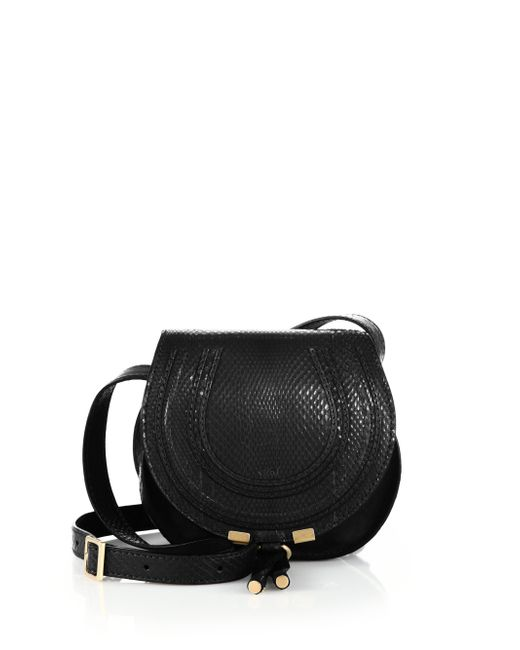 Chloé | Black Marcie Small Ayers Crossbody Bag | Lyst