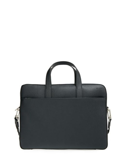 Jack Spade | Black 'barrow' Leather Briefcase for Men | Lyst