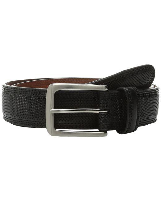 Johnston & Murphy | Black All Over Perfed Belt for Men | Lyst