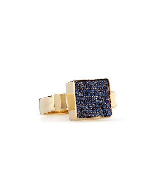 Sydney Evan | Metallic 14k Gold Block Sapphire Ring | Lyst
