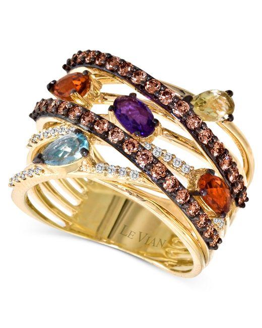 Le Vian | Multicolor Chocolate Diamond (5/8 Ct. White Diamond (1/10 Ct. T.w.) And Multistone In 14k Gold | Lyst