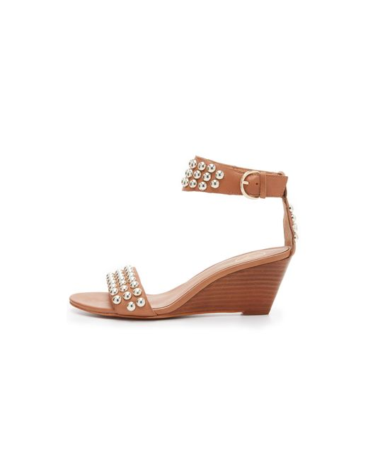 ash dune wedge sandals in brown camel save 70 lyst