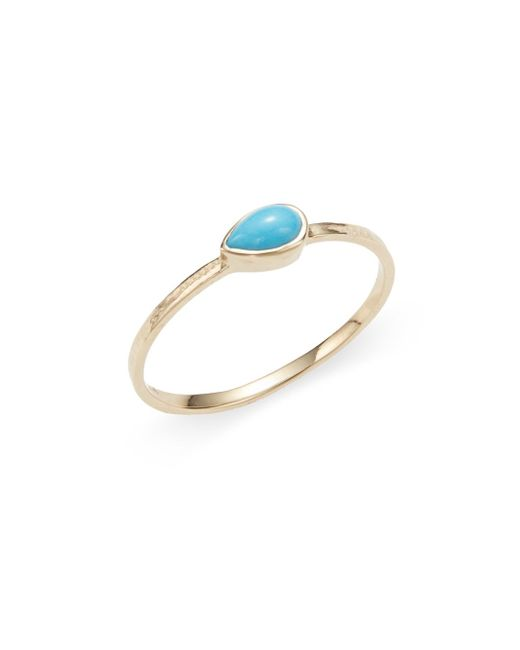 Anzie   Metallic Classique Turquoise & 14k Yellow Gold Ring   Lyst