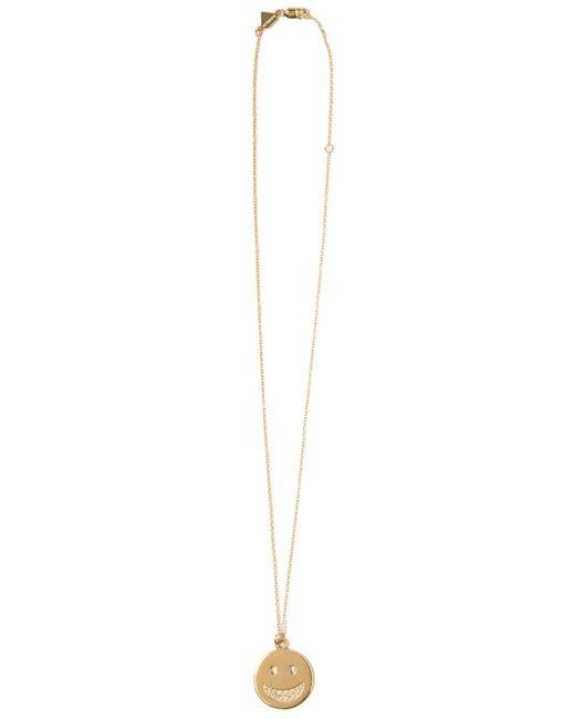 Alison Lou | Metallic Diamond Smiley Face Pendant Necklace | Lyst