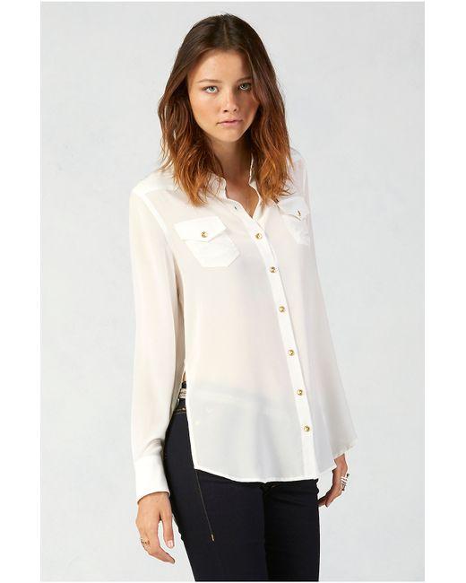 True Religion   White Relaxed Silk Georgia Womens Shirt   Lyst