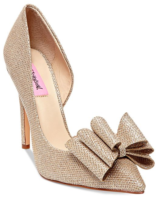 Betsey Johnson | Metallic Prince D'orsay Evening Pumps | Lyst