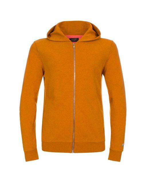 Paul smith Menu0026#39;s Orange Marl Flag-motif Hoodie in Yellow for Men - Save 50%   Lyst