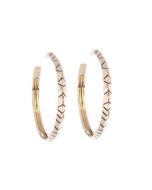 House of Harlow 1960 | Metallic Hoop Earrings | Lyst
