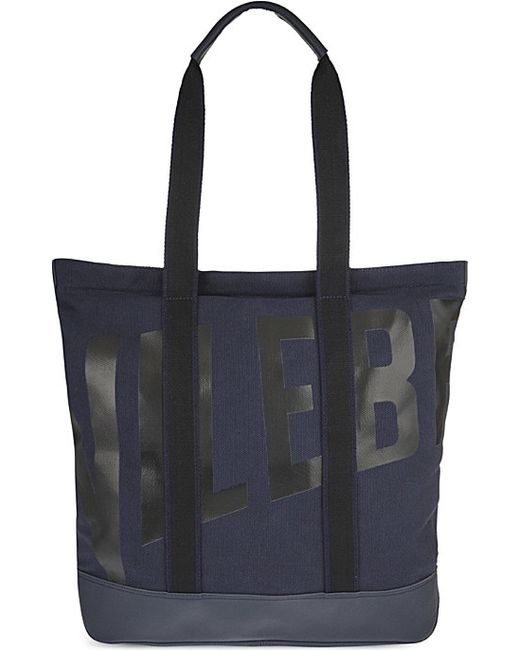 Vilebrequin | Blue Bertrand Cotton & Leather Beach Bag for Men | Lyst