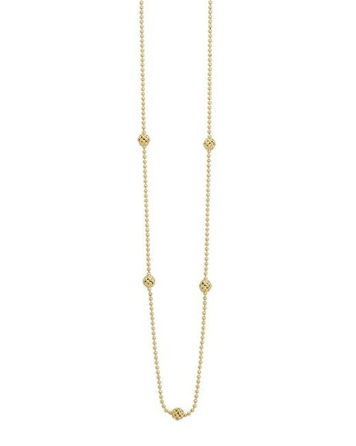 Lagos | Metallic 'covet' Caviar Station Necklace | Lyst