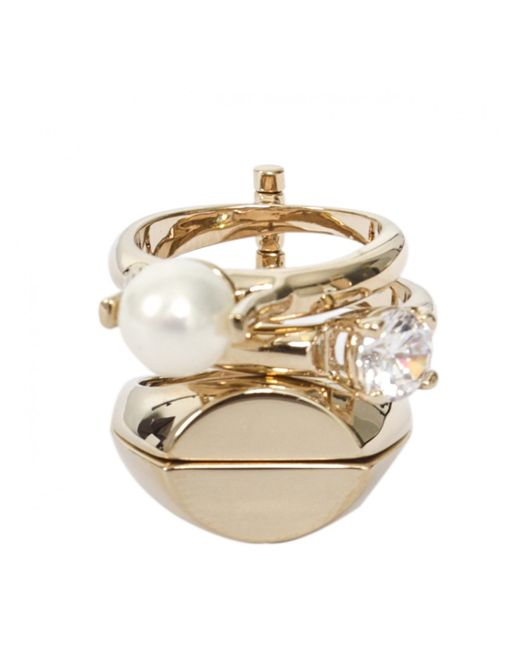 Maison Margiela   Metallic Multi Four Rings Gold   Lyst