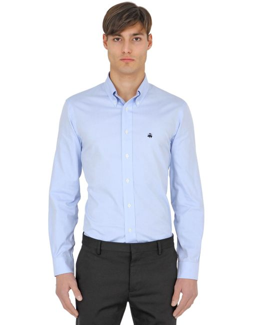 Brooks brothers extra slim button down cotton shirt in for Extra slim dress shirt