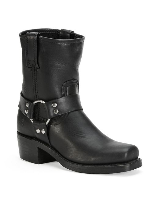 Frye | Black Harness Leather Mid-calf Boots | Lyst
