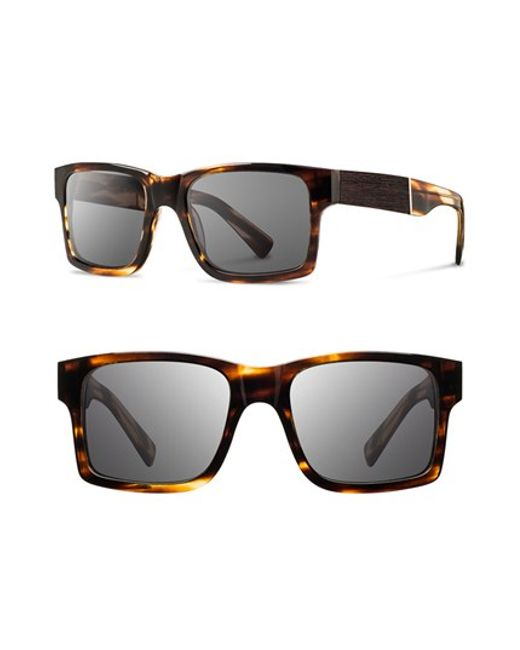 Shwood | Gray 'haystack' 52mm Polarized Wood Sunglasses for Men | Lyst