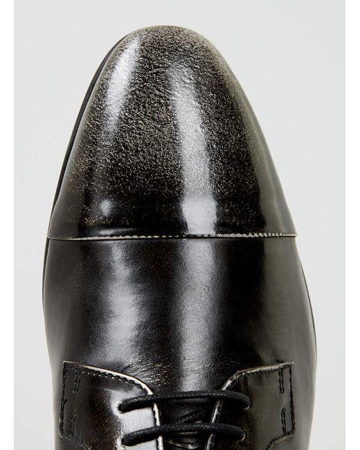 Topman | Black Leather Brogues for Men | Lyst