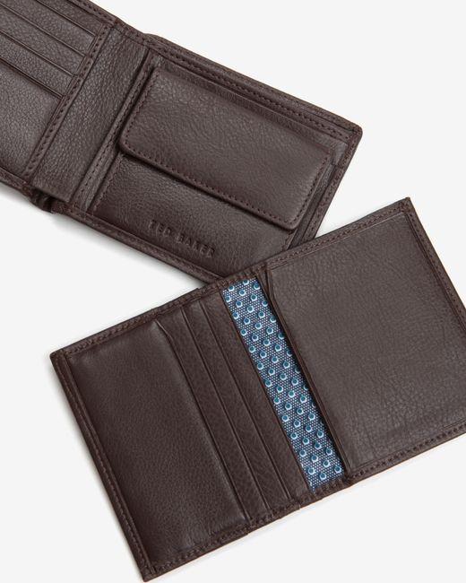 Ted Baker | Brown Metal Corner Wallet for Men | Lyst