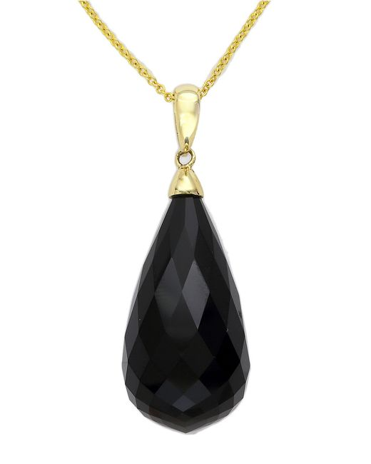 Effy   Black 14k Yellow Gold And Onyx Pendant Necklace   Lyst