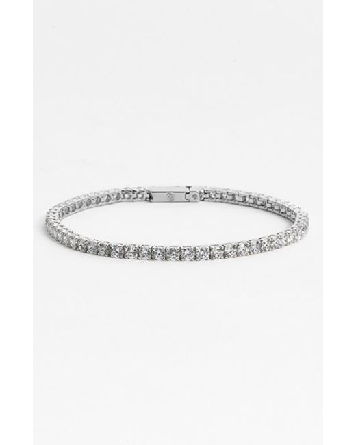 Nadri | Metallic Small Tennis Bracelet | Lyst