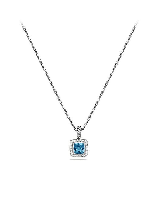 David Yurman | Petite Albion Pendant Necklace With Hampton Blue Topaz And Diamonds | Lyst