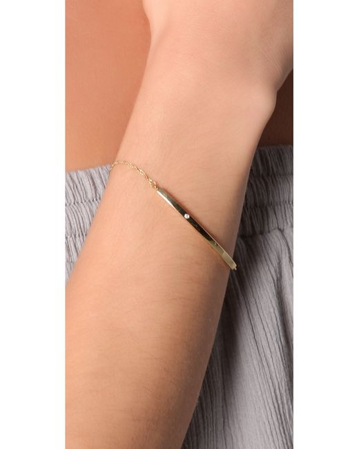 Jennifer Zeuner | Yellow Horizontal Bar Bracelet With Diamond | Lyst