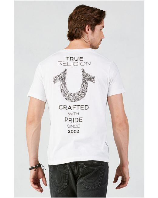 True Religion | White Hand Picked Shoestring Horseshoe Mens Tee for Men | Lyst