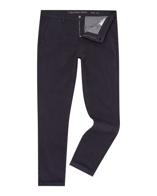 Calvin Klein | Blue Hayden Slim Fit Chino for Men | Lyst