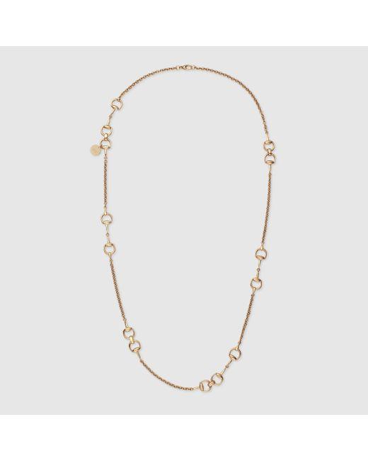 Gucci | Yellow Horsebit Necklace | Lyst