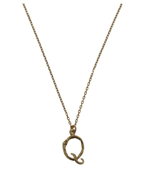 Alex monroe 18ct Gold Letter Q Enchanted Twig Necklace in ...