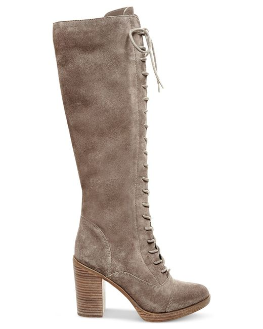 steve madden s nidea suede lace up boots in brown