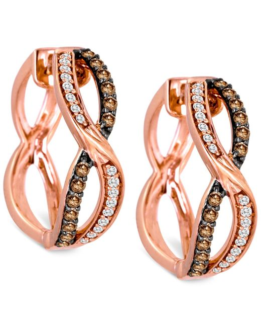 Le Vian | Metallic Chocolatier® Diamond Earring (3/8 Ct. T.w.) In 14k Rose Gold | Lyst