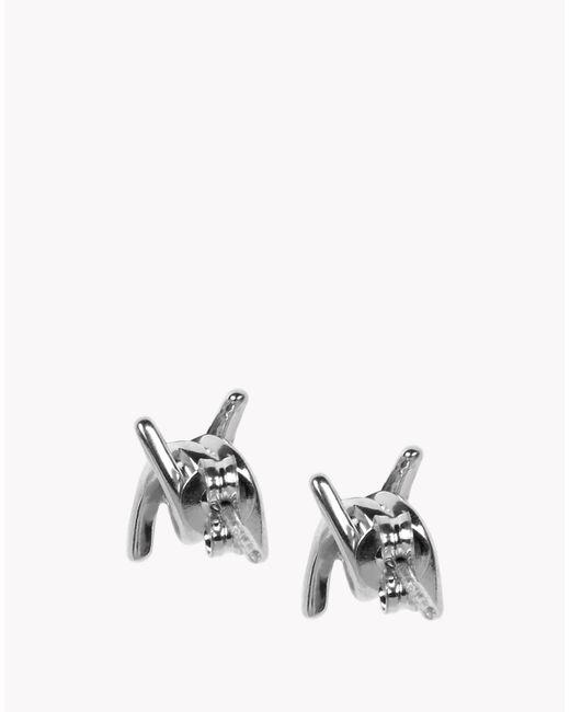 DSquared² | Metallic Babe Wire Earrings | Lyst