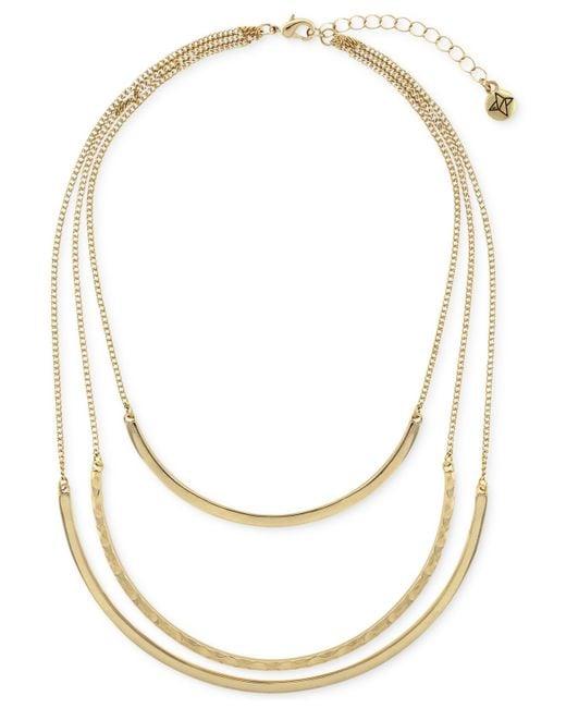 BCBGeneration | Metallic Three-row Collar Necklace for Men | Lyst