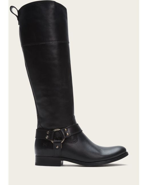 Frye | Black Melissa Harness Inside Zip | Lyst