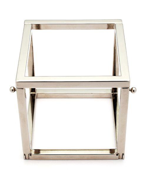 Caterina Zangrando | Tim White Gold Cube Bracelet | Lyst