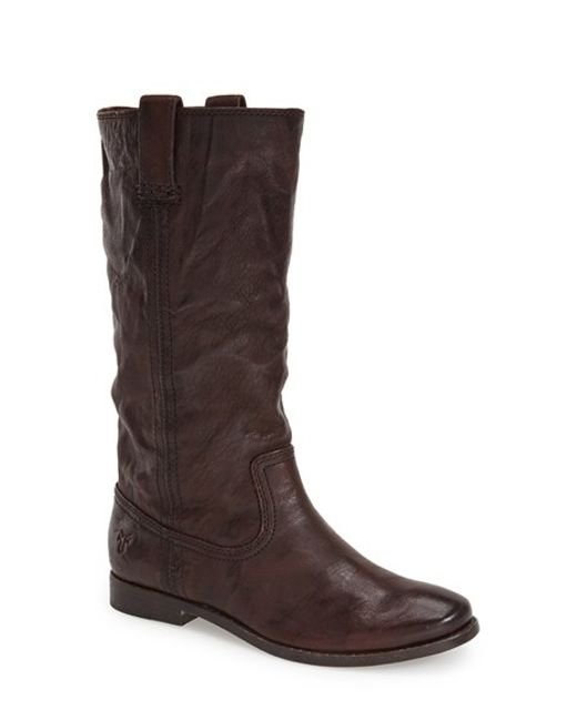 Frye | Brown 'Anna - Mid' Boot | Lyst
