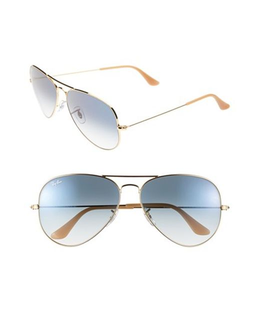 Ray-Ban | Blue 'large Original Aviator' 62mm Sunglasses | Lyst