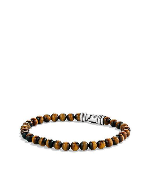 David Yurman | Metallic Spiritual Beads Bracelet With Tiger's Eye, 6mm for Men | Lyst