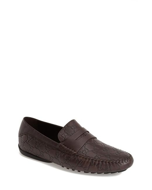 Gucci | Brown 'san Marino' Driving Shoe for Men | Lyst
