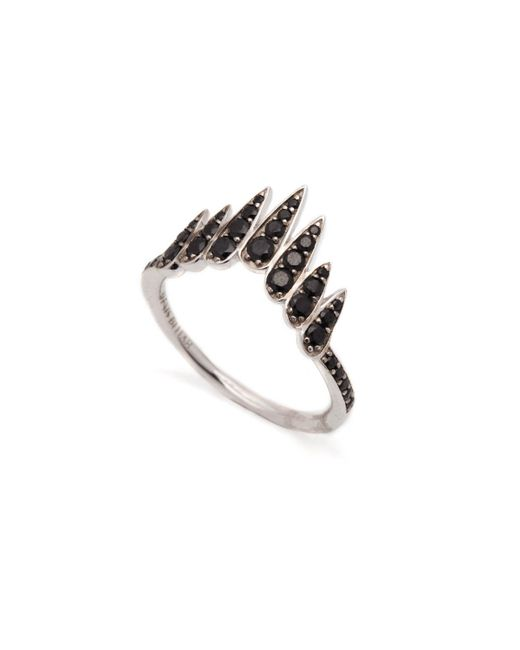 Alexis Bittar | Metallic Black Spinel Chevron Wing Ring You Might Also Like | Lyst