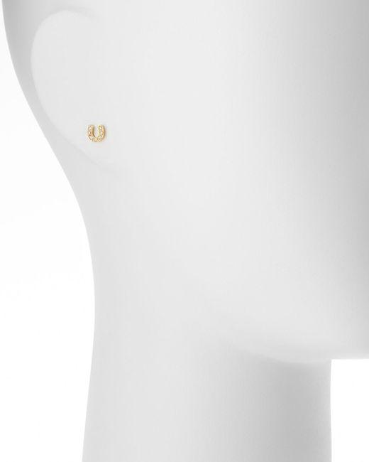 Sydney Evan   Metallic 14k Mini Starburst Single Stud Earring With Diamonds   Lyst