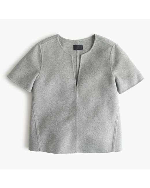 J.Crew | Gray Collection Double-faced Cashmere Top | Lyst