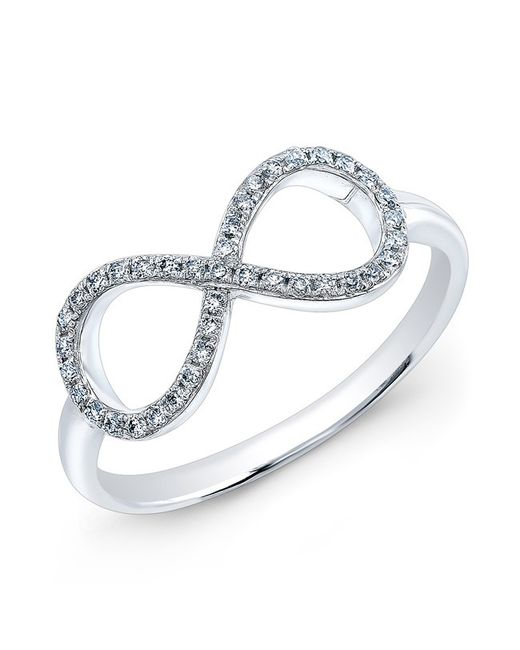 Anne Sisteron - 14kt White Gold Diamond Large Infinity Ring - Lyst