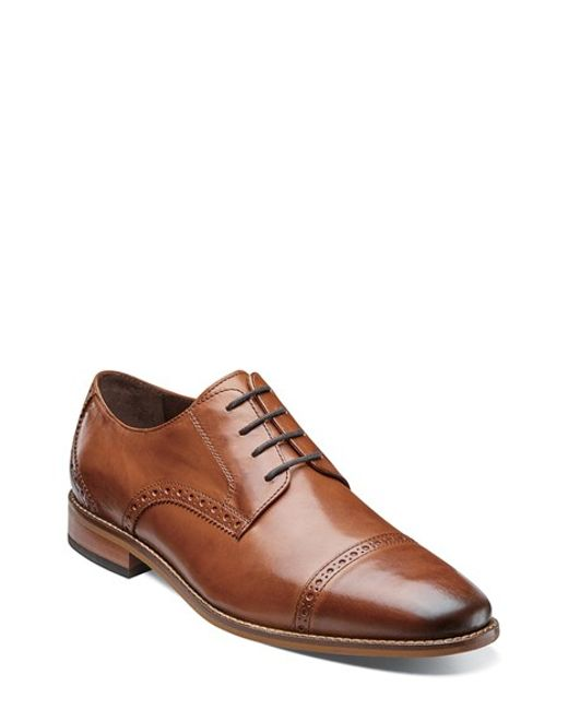 Florsheim | Brown 'castellano' Cap Toe Derby for Men | Lyst
