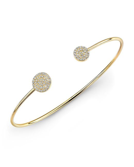 Anne Sisteron | Metallic 14kt Yellow Gold Diamond Disc Cuff | Lyst